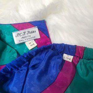 Vintage Skirts - VTG Hal Ferman 2 pc set skirt and top